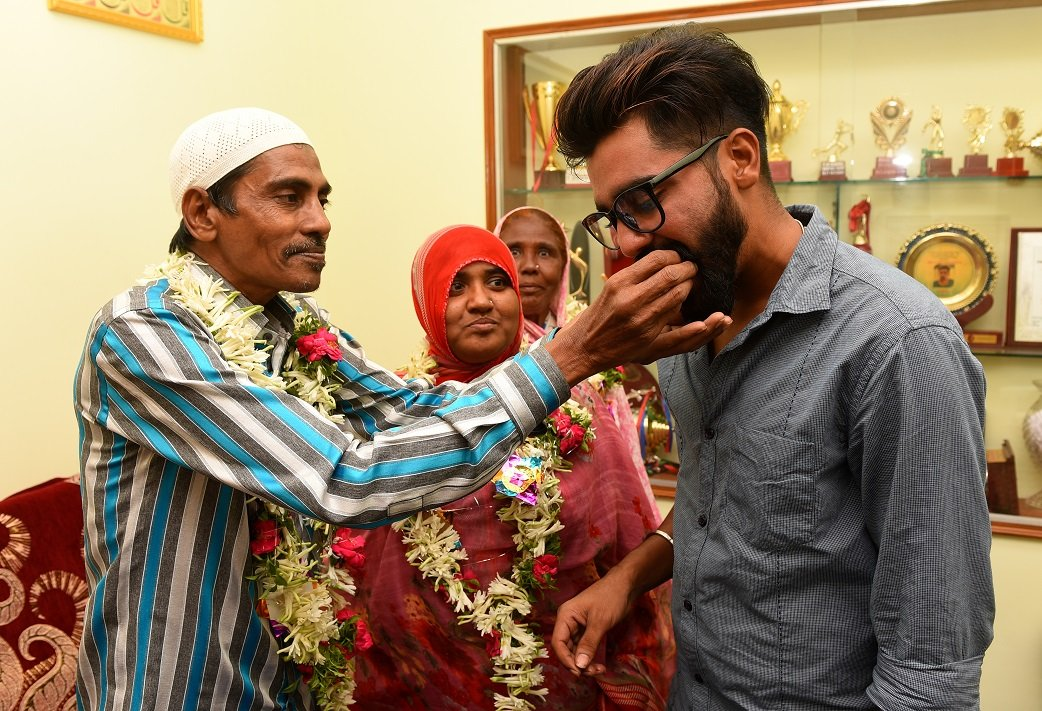 Siraj's father passed away at the age of 53