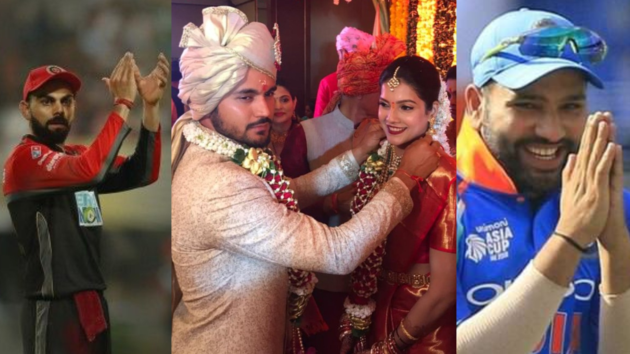 Virat Kohli and Rohit Sharma wish Manish Pandey on his wedding with Ashrita Shetty