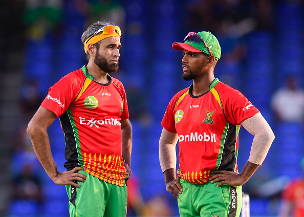 Imran Tahir and Nicholas Pooran plays for Guyana Amazon in the CPL 2021| Getty Images