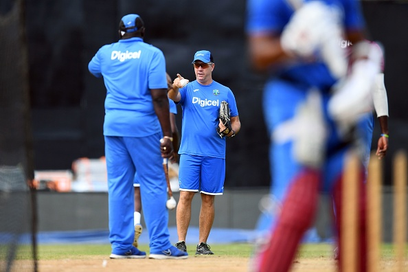 Law with team during net session in India | Getty Images
