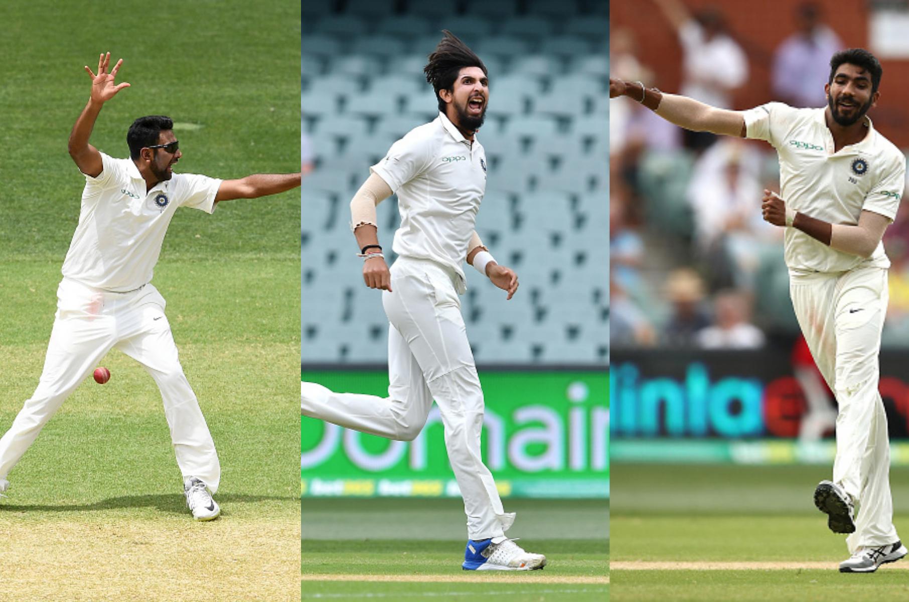 रवि आश्विन ने ३ जबकि इशांत शर्मा और जसप्रीत बुमराह ने २-२ विकेट लिए | Getty