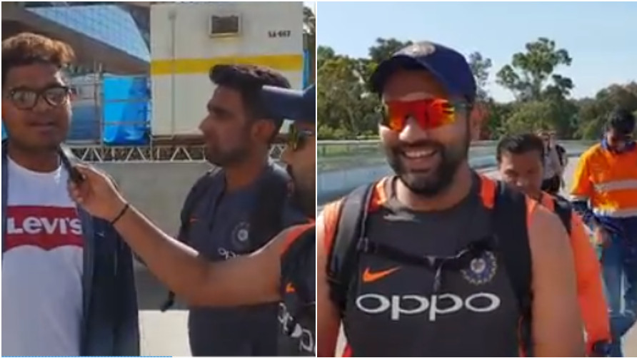 AUS v IND 2018-19: WATCH- Rohit Sharma and R Ashwin interact with random fans on streets of Adelaide