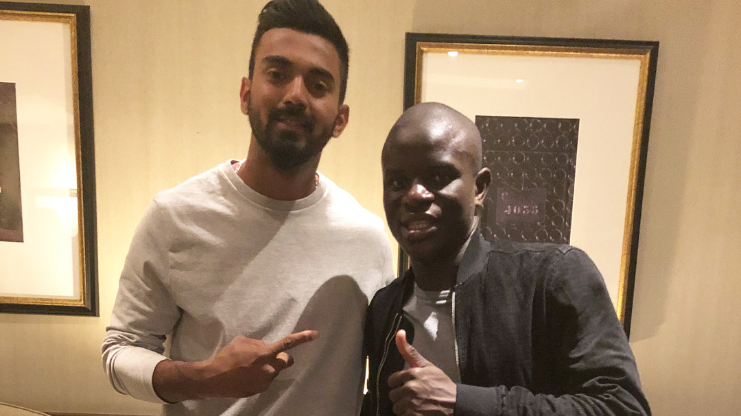 ENG v IND 2018: KL Rahul discusses cricket and soccer with Chelsea midfielder N'Golo Kante