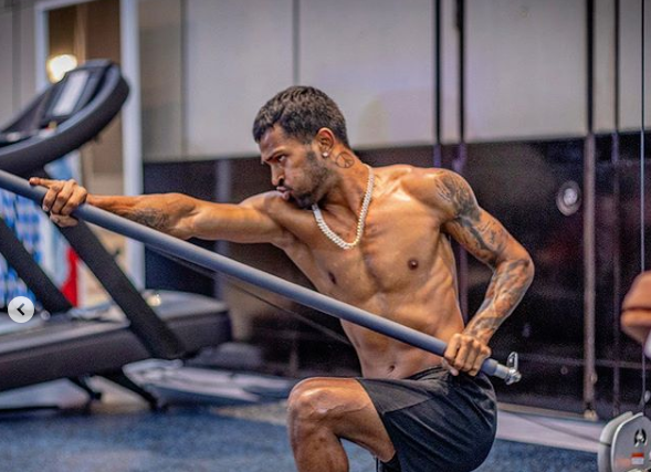 Hardik Pandya is sweating it out in the gym   Instagram
