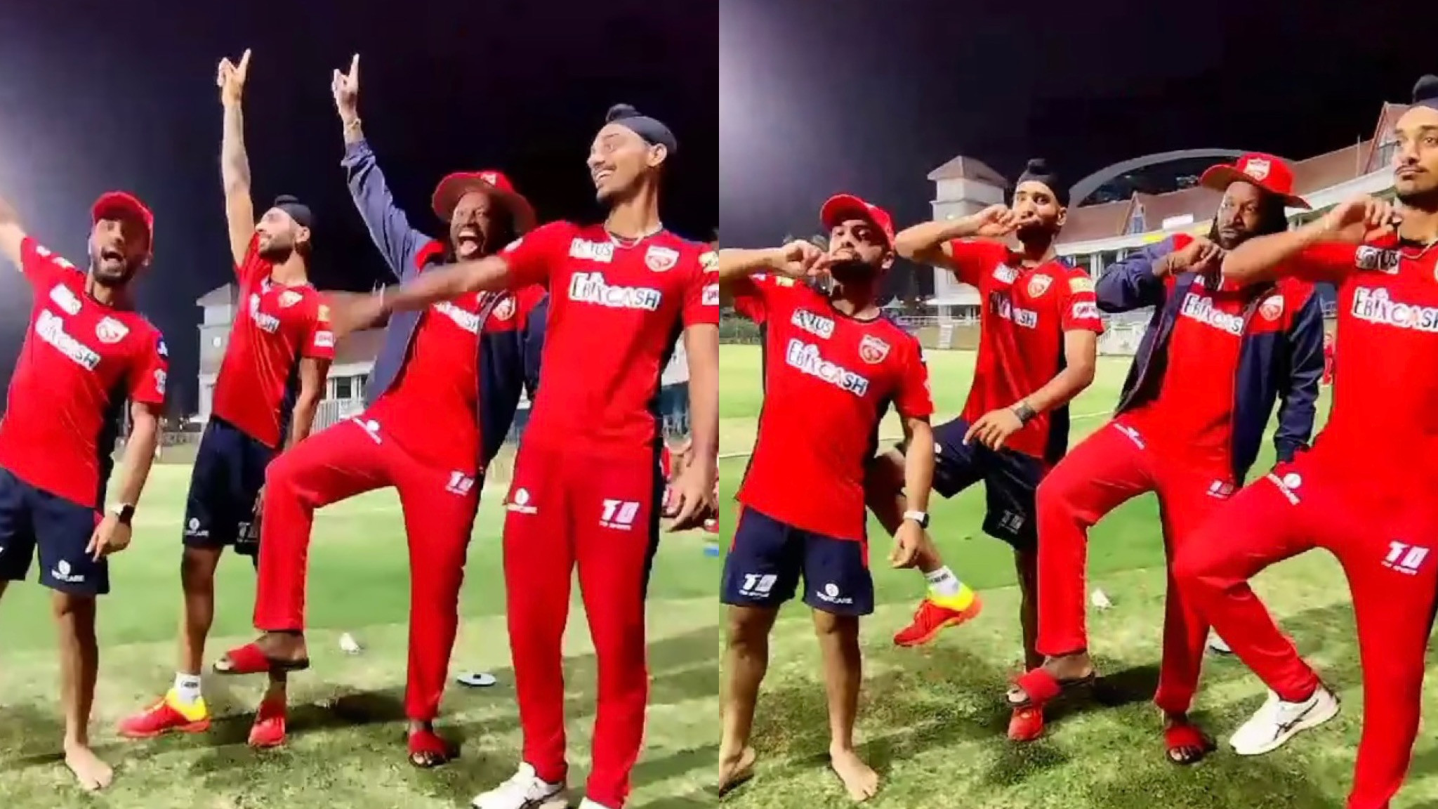 IPL 2021: WATCH- Chris Gayle does the thigh-five celebration with his PBKS teammates