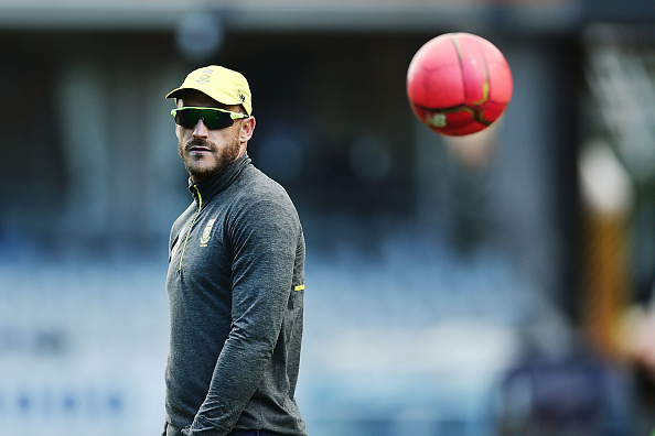 Du Plessis was unhappy with the Centurion pitch. (Getty)