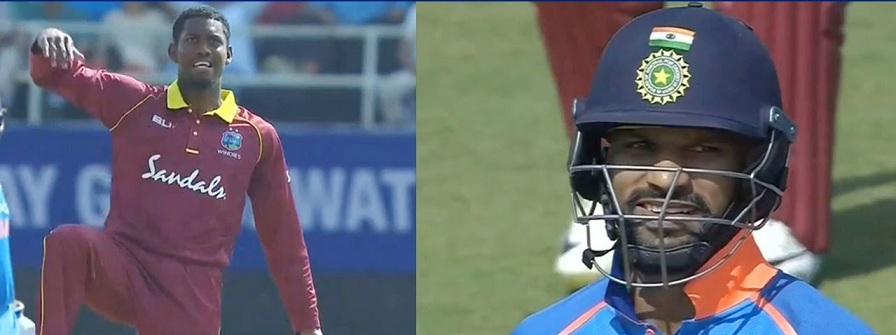 Keemo Paul gave Dhawan a send off in his own style