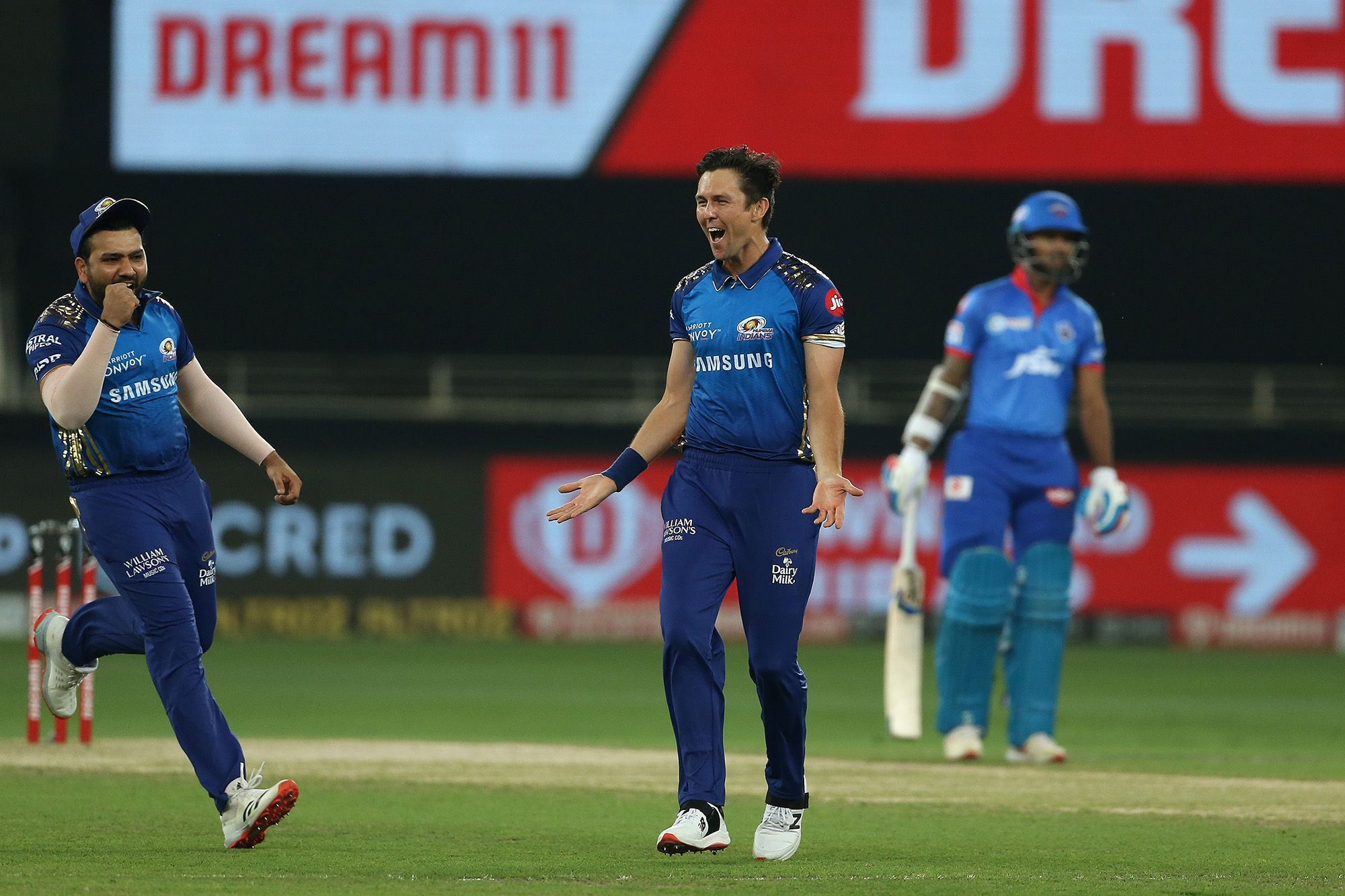 Man of the Match Trent Boult took 3 wickets against DC in the final of IPL 2020. (Photo - BCCI / IPL)