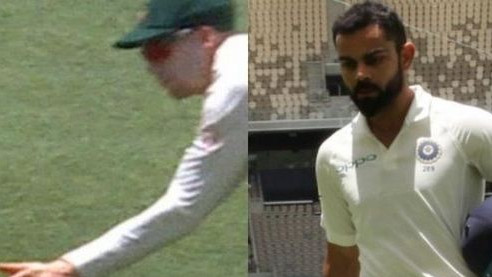 AUS v IND 2018-19: WATCH - Virat Kohli's magnificent knock ended by a controversial catch by Handscomb