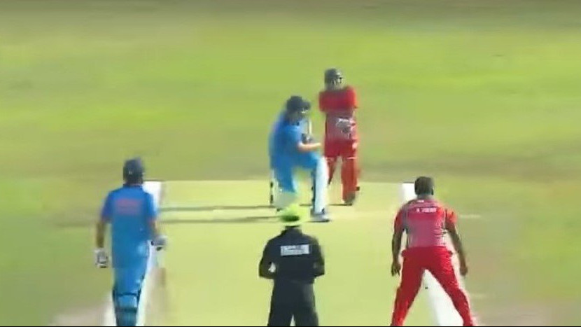 WATCH: Yuvraj Singh pulls off an audacious reverse sweep for a six