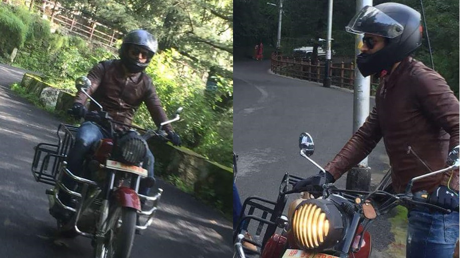 WATCH: MS Dhoni was spotted riding bike during his mini-trip to Shimla
