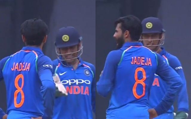 Dhoni yells at Jadeja over DRS review for Hetmyer | Twitter
