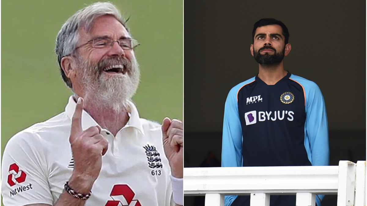 ENG v IND 2021: Barmy Army shares photo of 68-year-old Anderson taking Kohli Jr's wicket in 2050