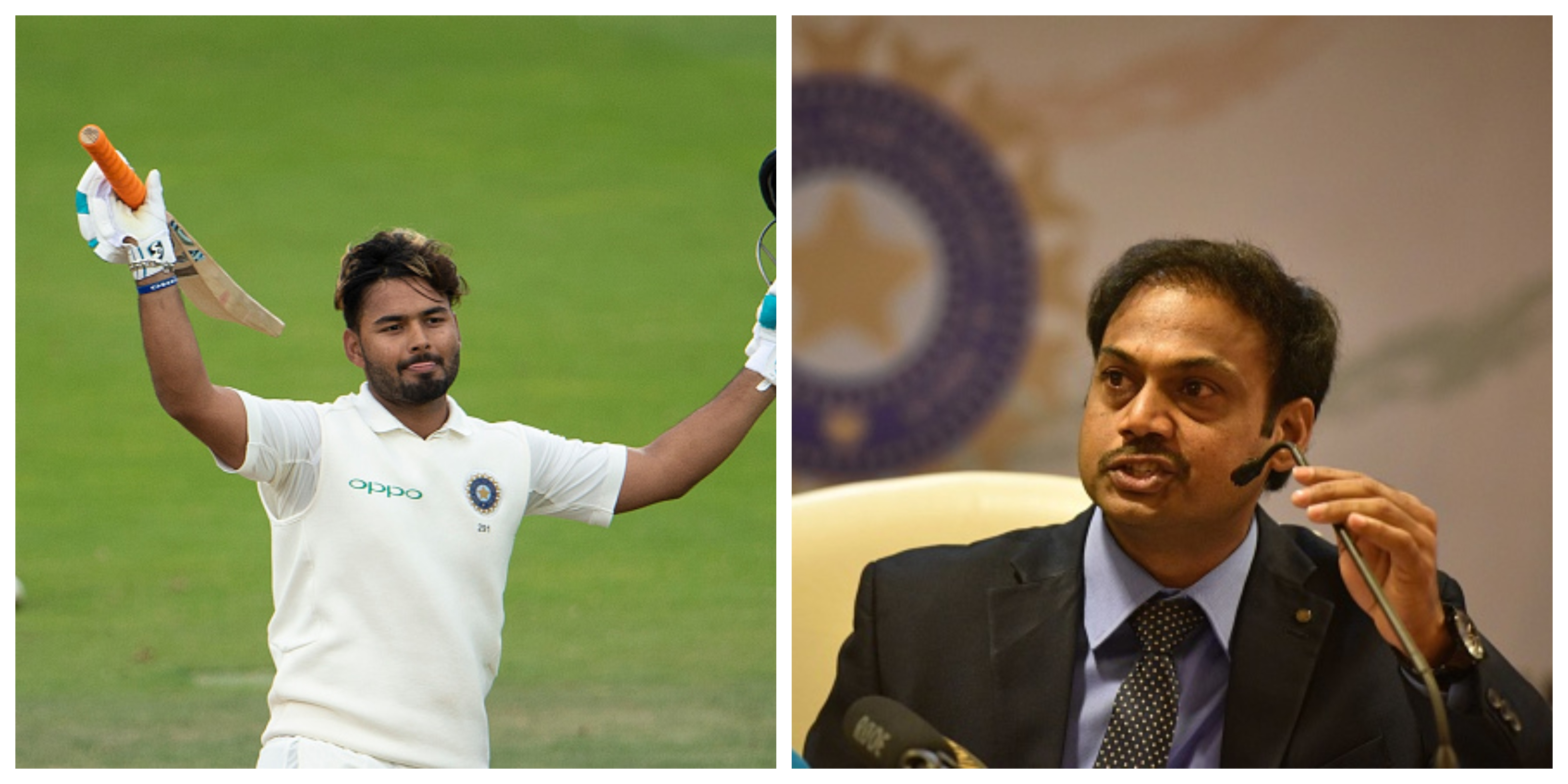 MSK Prasad thinks that while Pant impressed with the bat, he has to work harder on his keeping | Getty