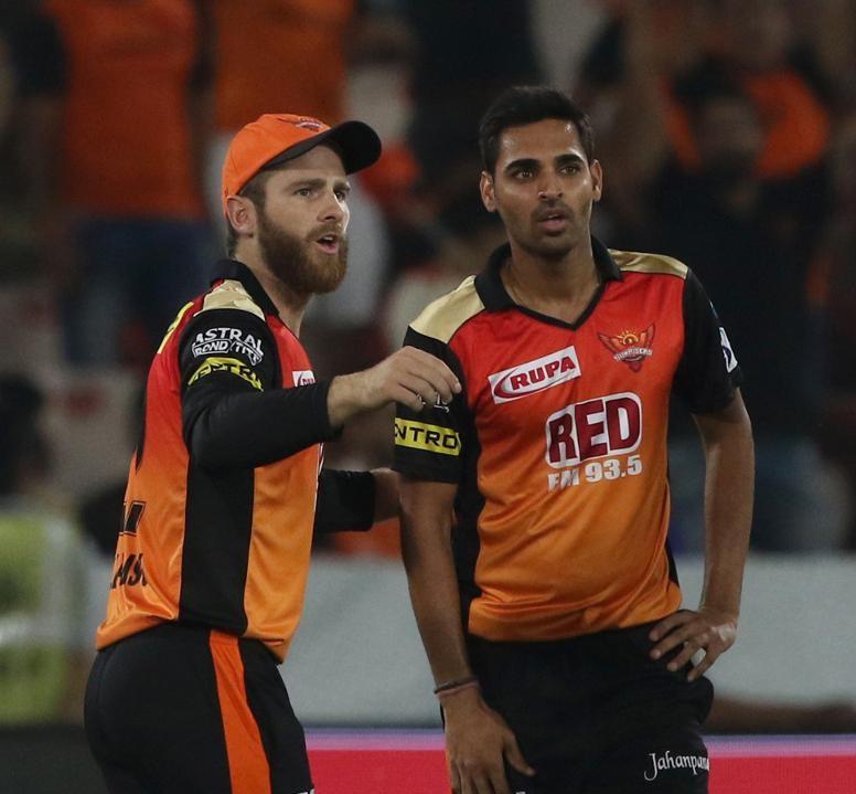 Kane Williamson and Bhuvneshwar Kumar   BCCI-IPL