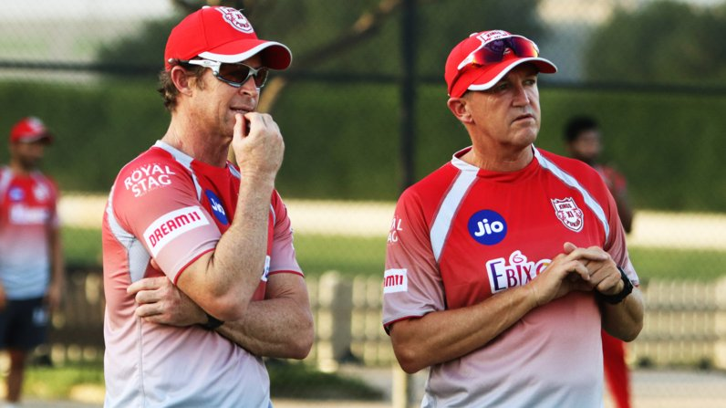 Andy Flower with Jonty Rhodes for KXIP | Twitter