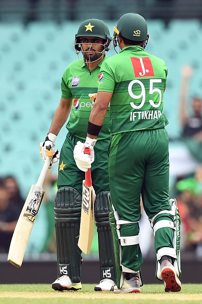 Babar Azam and Iftikhar Ahmed hit fifties for Pakistan | Getty
