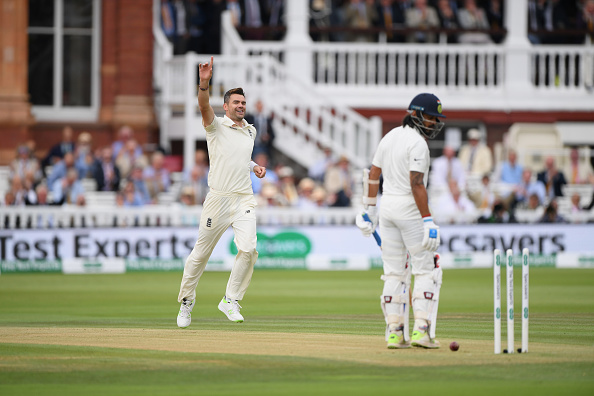James Anderson dismissing Murali Vijay with a peach of a delivery | Getty