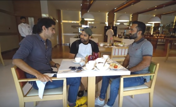 Dinesh Karthik with Rohit Sharma and Gaurav Kapur | Breakfast with Champions/Youtube
