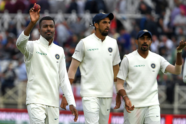 Hardik Pandya picked five wickets, while Bumrah and Ishant picked two each | PAUL ELLIS-AFP-Getty Images