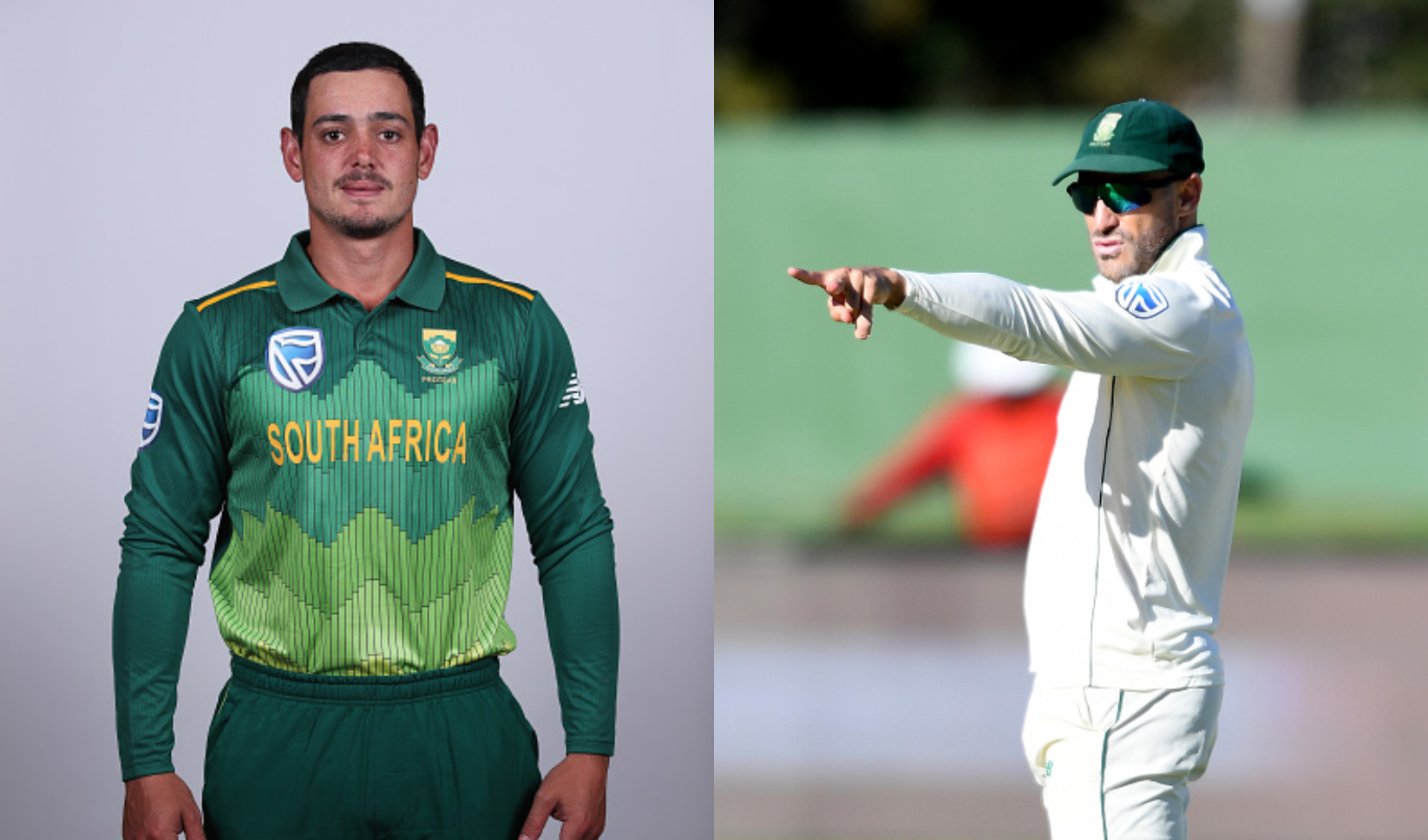 T20I skipper Quinton de Kock and Test skipper Faf du Plessis | Getty
