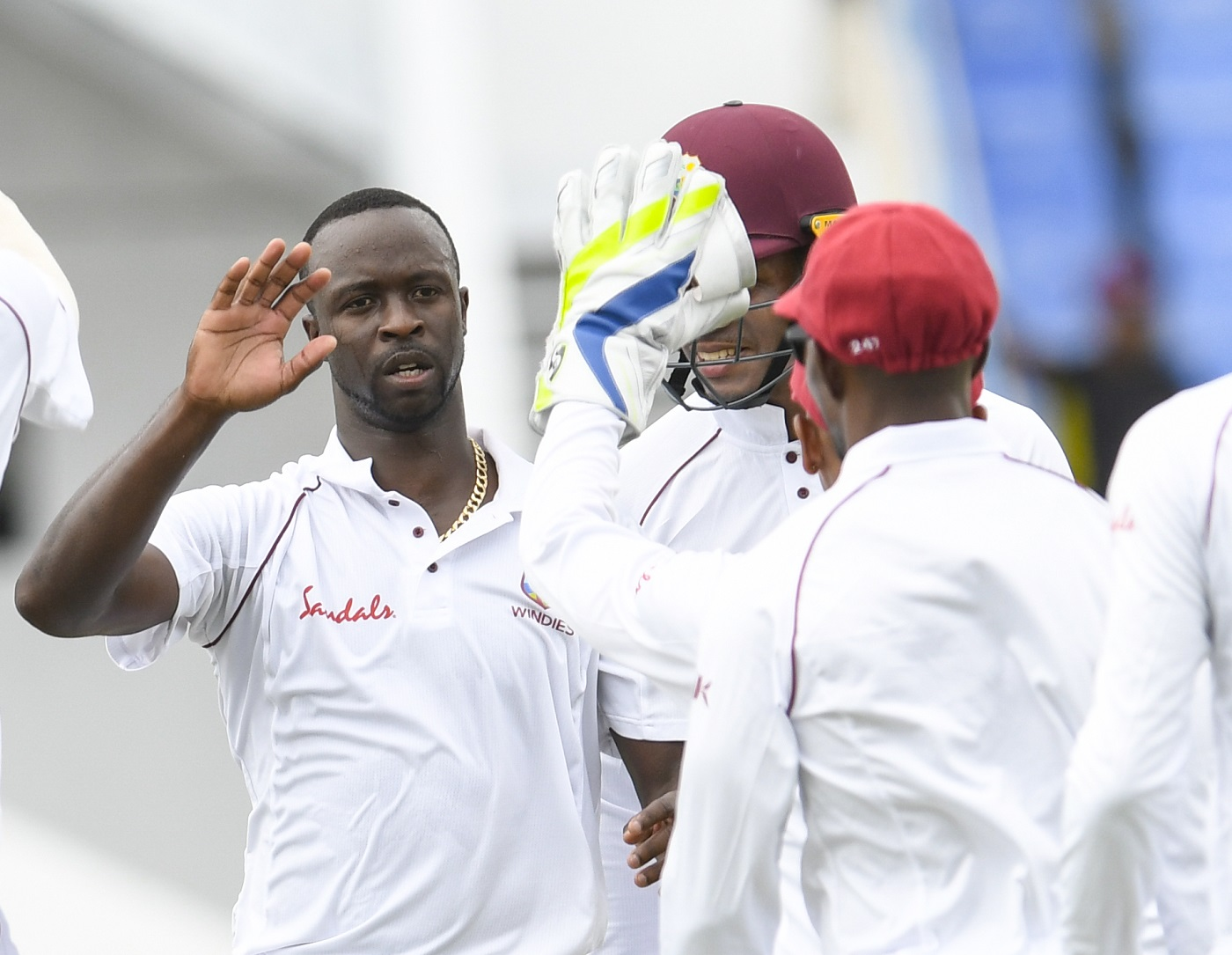 Kemar Roach took 5 wickets in the space of 12 balls in the first Test against Bangladesh. (photo - getty)