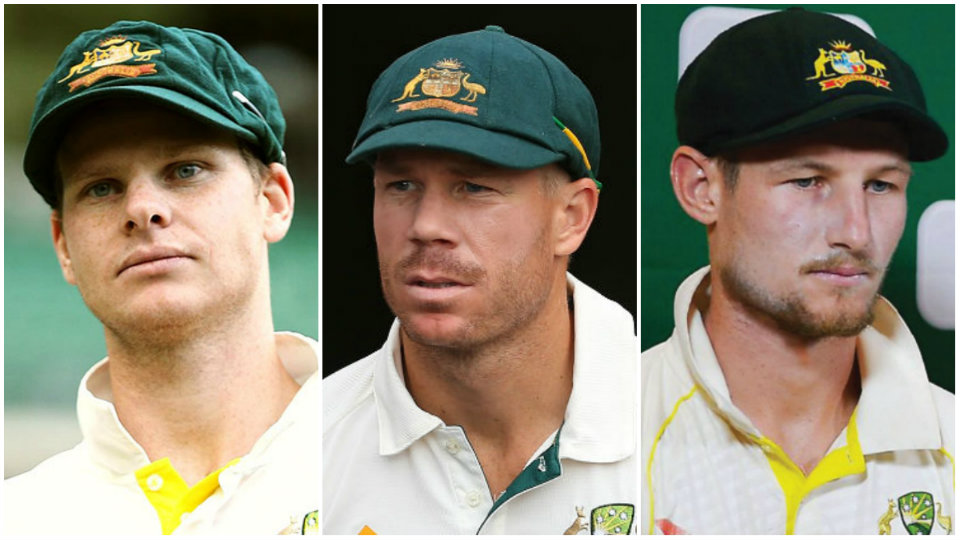 Steve Smith, David Warner and Cameron Bancroft suspended for their role in the infamous Cape Town ball-tampering scandal | Getty Images