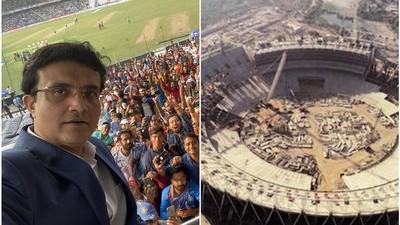 सौरव गांगुली ने अहमदाबाद में लिया दुनिया के सबसे बड़े स्टेडियम का जायजा