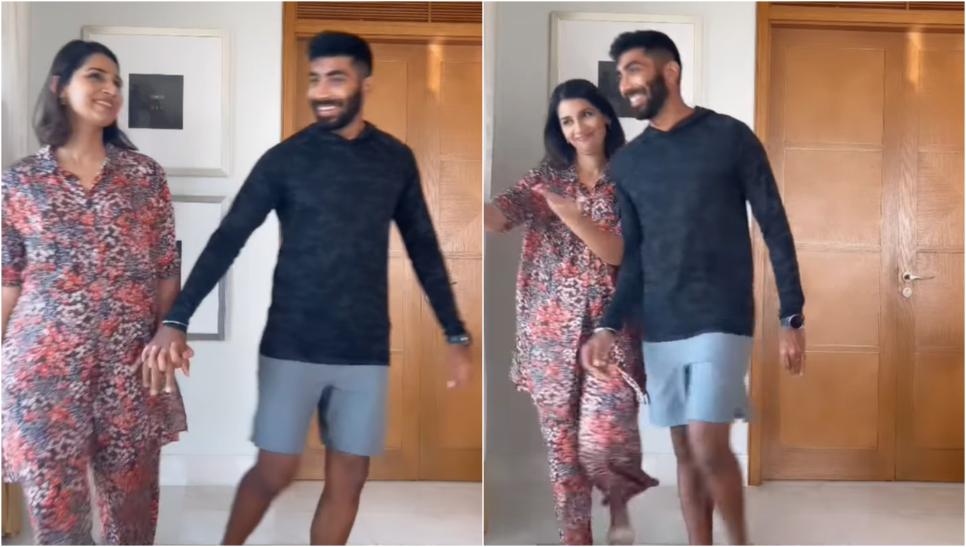 Jasprit Bumrah and Sanjana Ganesan   Instagram