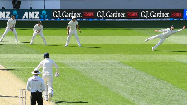 NZ vs ENG 2018: Watch- Kane Williamson pulls off an amazing catch to dismiss Stuart Broad