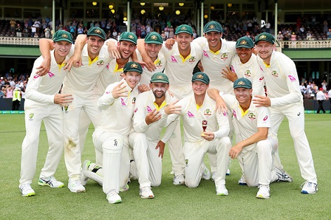 Australia celebrates their Ashes triumph | Twitter CA