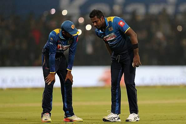 एंजेलो मैथ्यूज बांग्लादेश के खिलाफ T20I सीरीज से हुए बाहर