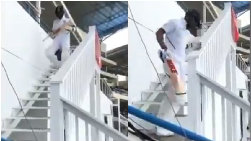 WI v IND 2019: WATCH - Fans give Virat Kohli a stirring welcome during second innings of Antigua Test