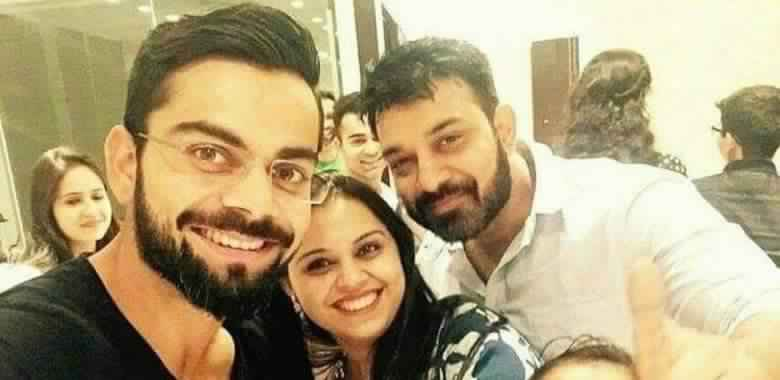 Virat Kohli with his sister | Facebook