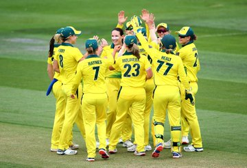 Australia women celebrates their series win in West Indies | Twitter