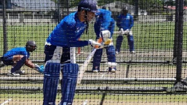 NZ v IND 2019: WATCH – MS Dhoni sweats it out in the nets ahead of the first ODI