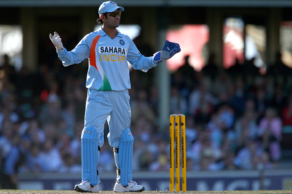 MS Dhoni during the CB series | Getty