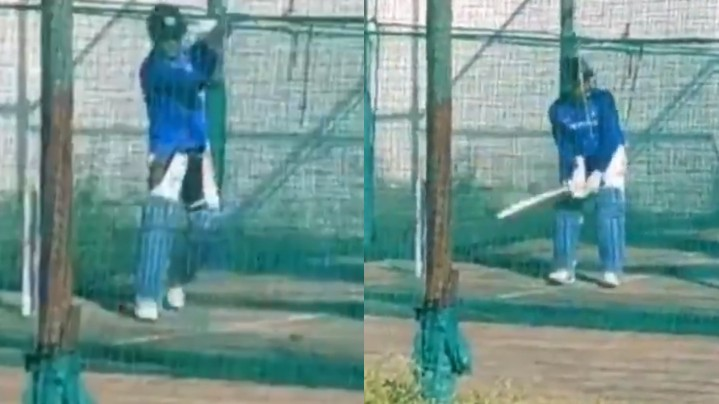 WATCH: MS Dhoni has a practice session in Ranchi