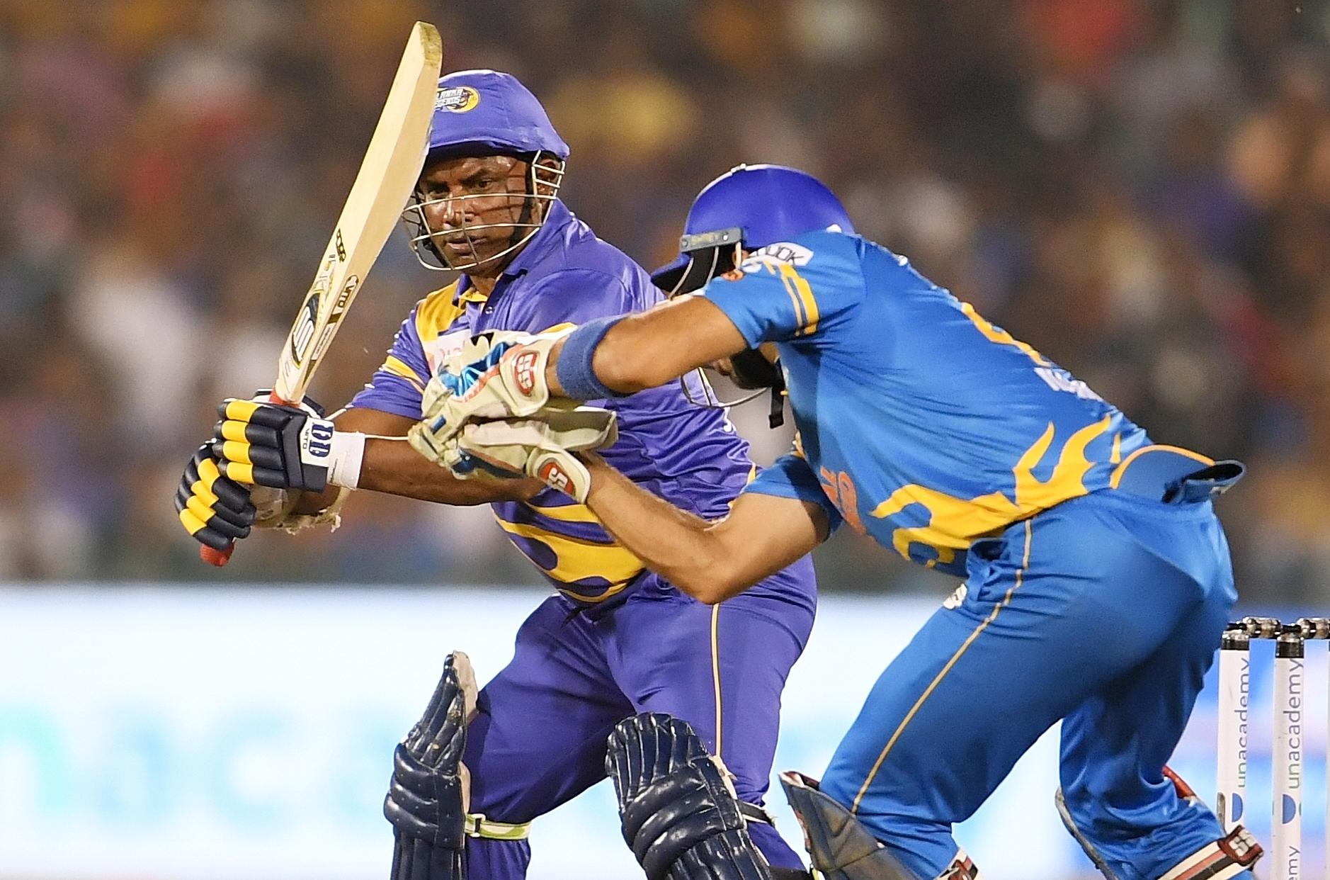 Sanath Jayasuriya made 43 for Sri Lanka Legend   RSWS