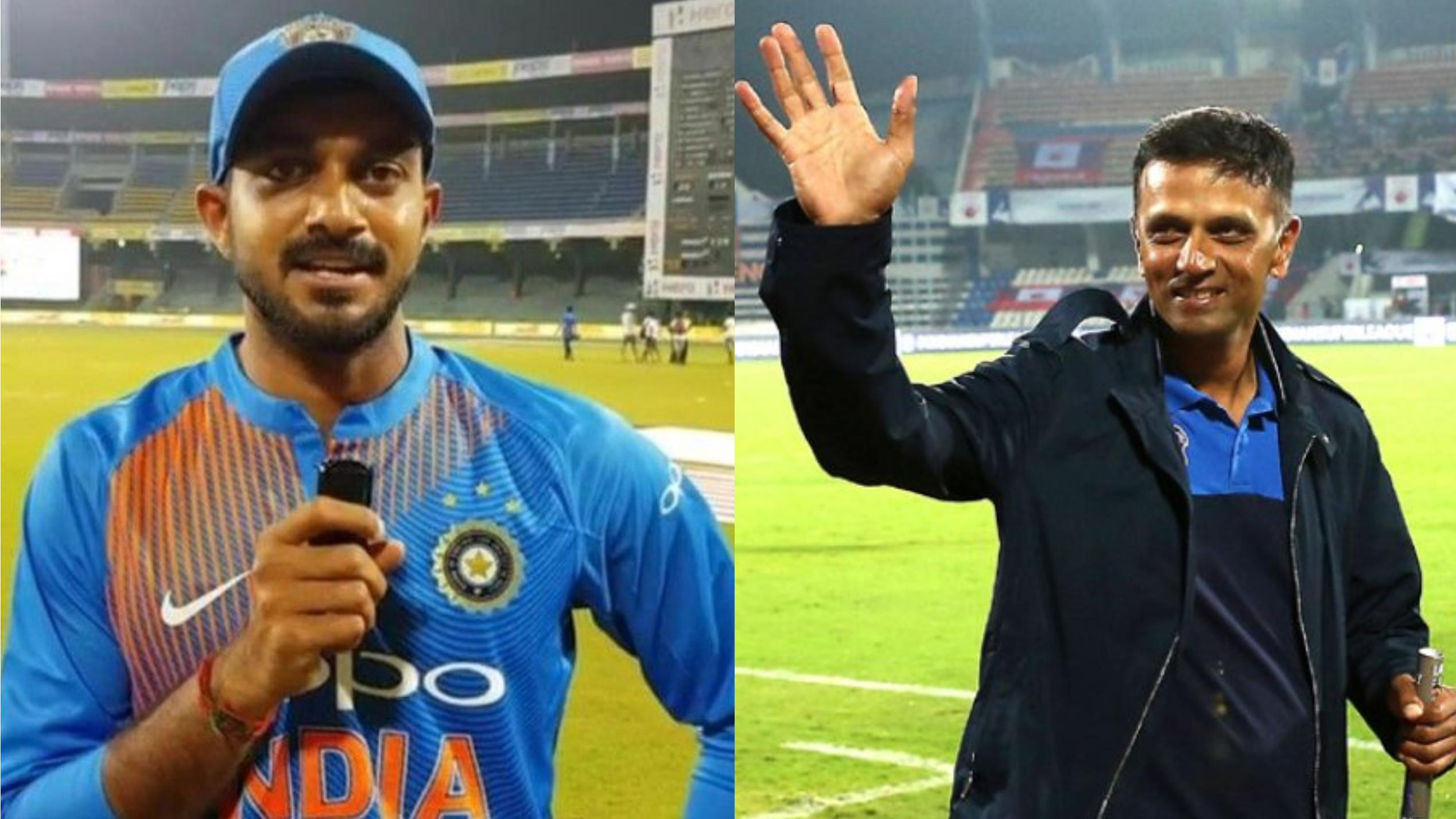 विजय शंकर ने राहुल द्रविड़ के उन्हें न.५ पर बल्लेबाज़ी करवाने के निर्णय की सराहना की