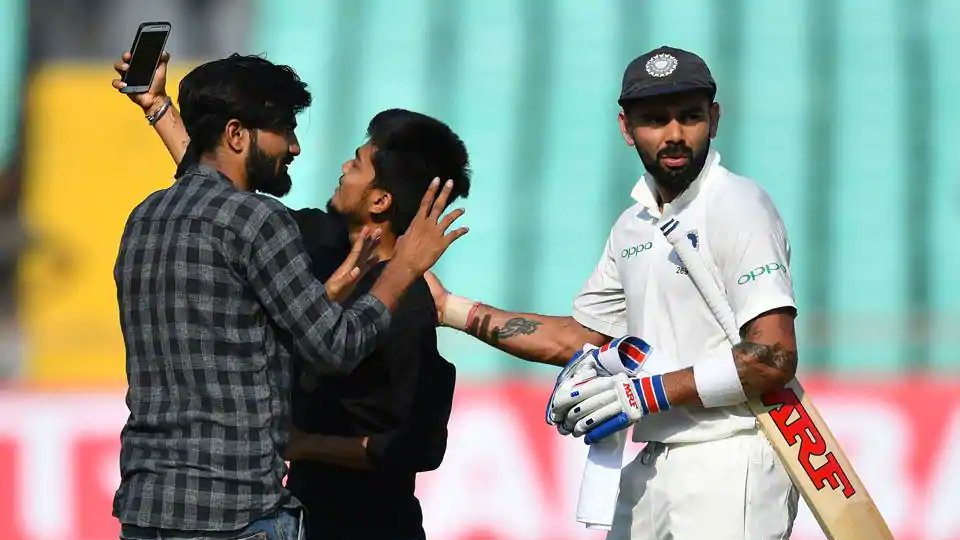 IND v WI 2018: WATCH - Fans breach security to click selfie with Virat Kohli at Rajkot