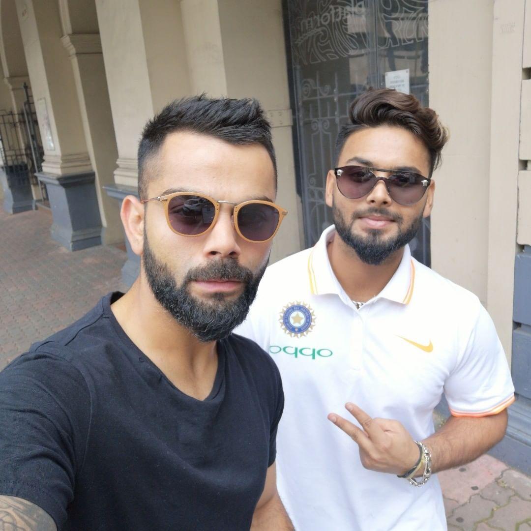 Virat Kohli and Rishabh Pant | Twitter