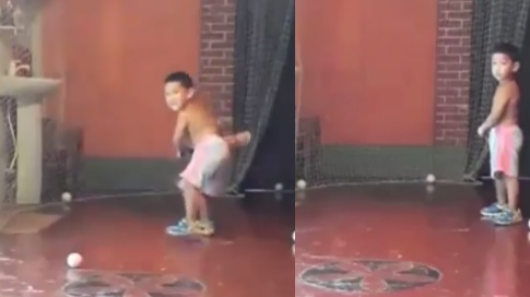 WATCH: A 2-year-old Bangladeshi kid surprises everyone on social media with his batting