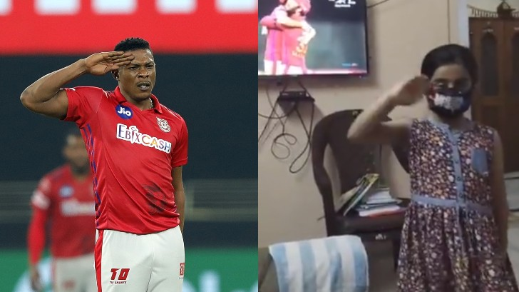 IPL 2020: Sheldon Cottrell responds to a little girl's video copying his salute