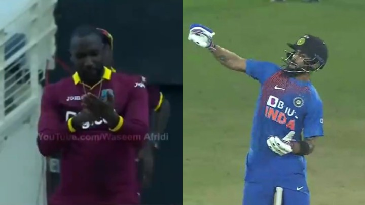 IND v WI 2019: WATCH - When Kesrick Williams gave Virat Kohli 'notebook' send-off in 2017