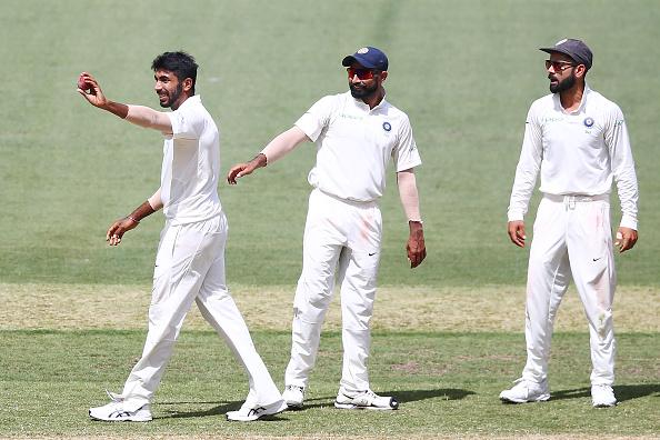 Jasprit Bumrah, Mohammad Shami and Virat Kohli | GETTY