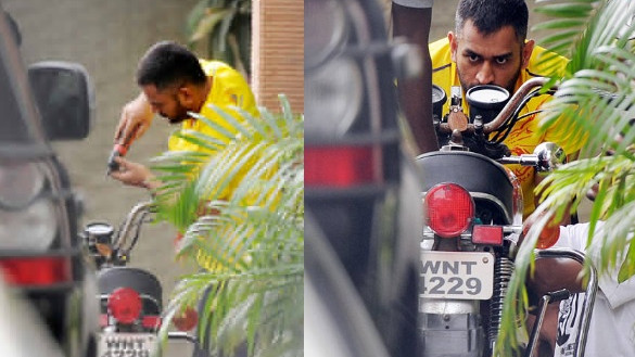 Sakshi Dhoni shares a picture of MS Dhoni's bike collection with her followers