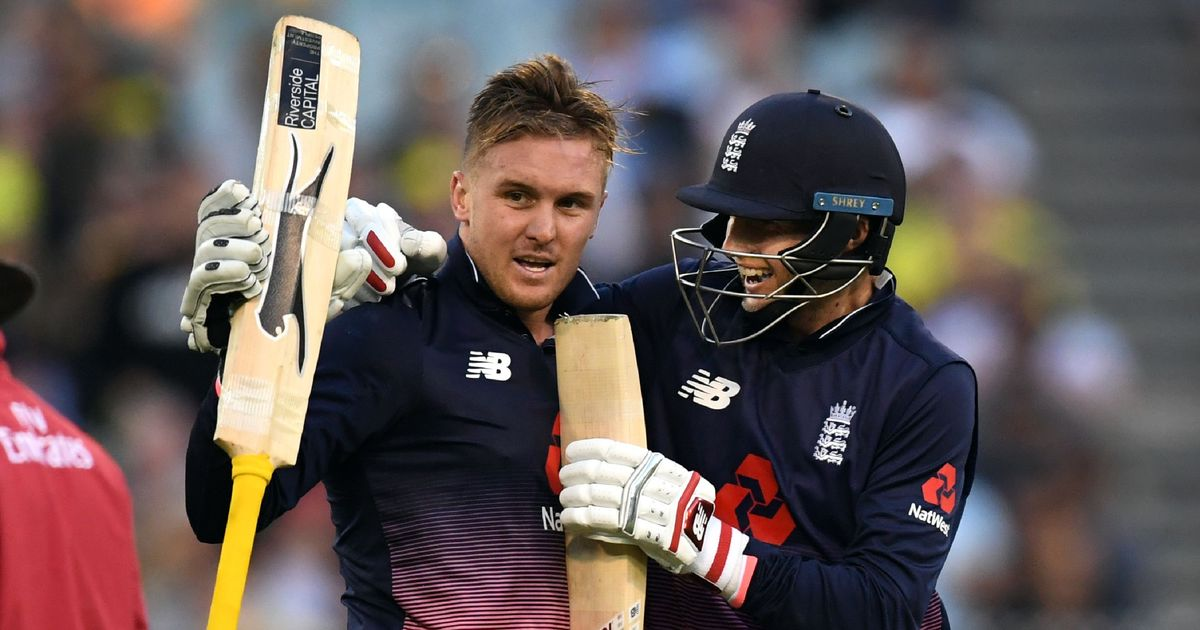 Jason Roy (L) and Joe Root (R) | Source AFP