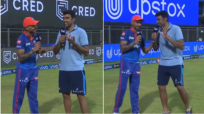 IPL 2021: WATCH - Shikhar Dhawan and R Ashwin's hilarious conversation after win over PBKS