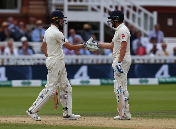 Jonny Bairstow and Chris Woakes added 189 runs to take the game away from India | Getty